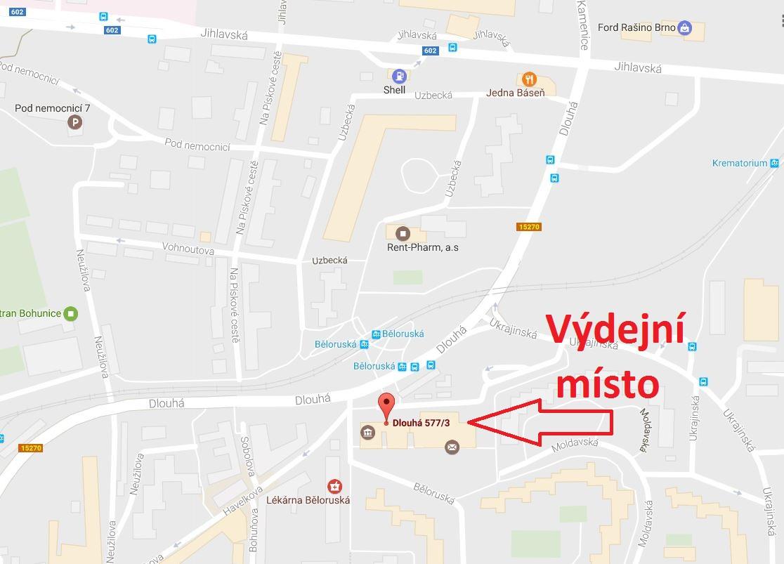 Výdejní místo Brno GoStore.cz